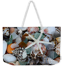Weekender Tote Bag featuring the photograph Caribbean Shells by The Art of Alice Terrill