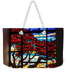 Weekender Tote Bag featuring the photograph Caribbean Stained Glass  by The Art of Alice Terrill