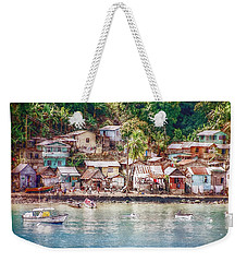 Weekender Tote Bag featuring the photograph Caribbean Village by Hanny Heim