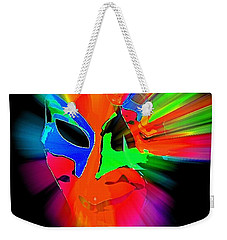 Carnival Mask In Abstract Weekender Tote Bag