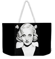 Carole Lombard Weekender Tote Bag by Fred Larucci