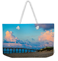 Carolina Blue Over Kure Beach Weekender Tote Bag