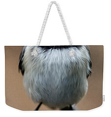 Weekender Tote Bag featuring the painting Carolina Chickadee by John Haldane