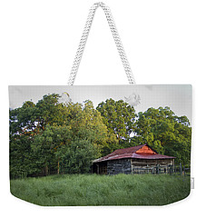 Weekender Tote Bag featuring the photograph Carolina Horse Barn by Ben Shields