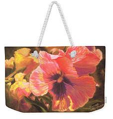 Caroline's Pansies Weekender Tote Bag