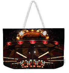Weekender Tote Bag featuring the photograph Carousel 3 by Mary Bedy