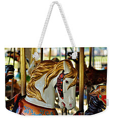 Weekender Tote Bag featuring the photograph Carousel Horse 1 by Jean Goodwin Brooks