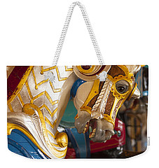 Colorful Carousel Merry-go-round Horse Weekender Tote Bag by Jerry Cowart