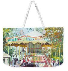 Carousel In Montmartre Paris Weekender Tote Bag by Jan Matson