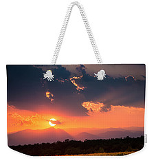 Weekender Tote Bag featuring the photograph Carpathian Sunset by Mihai Andritoiu