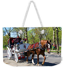 Weekender Tote Bag featuring the photograph Carriage Ride In Central Park by Eleanor Abramson