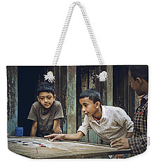 Carrom Boys Weekender Tote Bag by Valerie Rosen