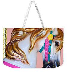 Carrousel Horse Weekender Tote Bag by Jennifer Muller