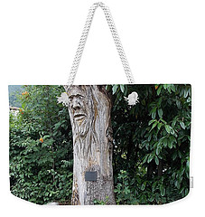 Carved Tree Weekender Tote Bag