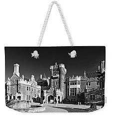 Casa Loma In Toronto In Black And White Weekender Tote Bag