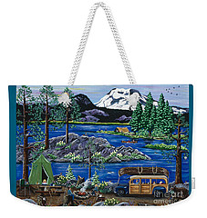 Cascade Lake Sparks Weekender Tote Bag