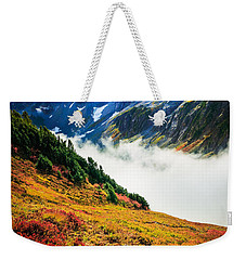 Cascade Pass Peaks Weekender Tote Bag by Inge Johnsson