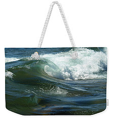 Cascade Wave Weekender Tote Bag by James Peterson