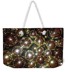 Weekender Tote Bag featuring the photograph Casino Sparkle Interior Decorations by Navin Joshi