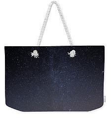 Weekender Tote Bag featuring the photograph Cassiopeia And Andromeda Galaxy 01 by Greg Reed
