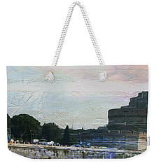 Weekender Tote Bag featuring the painting Castel Sant'angelo     by Brian Reaves