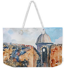 Castillo De San Cristobal Sentry Door Weekender Tote Bag
