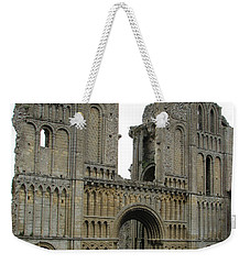 Weekender Tote Bag featuring the photograph Castle Acre Abbey by Stephanie Grant