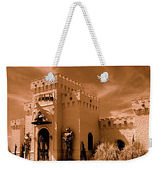 Weekender Tote Bag featuring the photograph Castle By The Road by Rodney Lee Williams