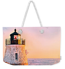 Castle Hill Light 3 Weekender Tote Bag by Marianne Campolongo