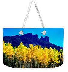 Autumn Castle Rock Aspens Weekender Tote Bag