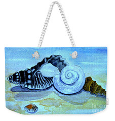 Weekender Tote Bag featuring the painting Castles In The Sand by Leanne Seymour