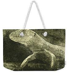 casual meeting Reptile Viviparous Lizard  Lacerta vivipara Weekender Tote Bag