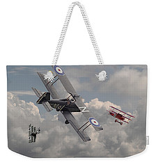 Cat Among The Pigeons Weekender Tote Bag