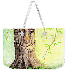 Cat And Great Mother Tree Weekender Tote Bag by Keiko Katsuta