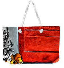 Cat By The Red Door Weekender Tote Bag