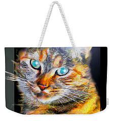 Weekender Tote Bag featuring the digital art Cat by Daniel Janda