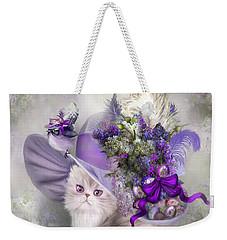 Cat In Easter Lilac Hat Weekender Tote Bag
