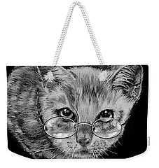 Cat In Glasses  Weekender Tote Bag