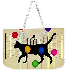 cat Weekender Tote Bag by Mark Ashkenazi