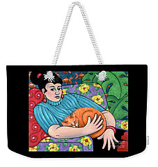 cat painting - Dandylions Dream Weekender Tote Bag