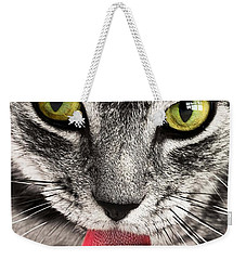 Weekender Tote Bag featuring the photograph Cat by Paul Fearn