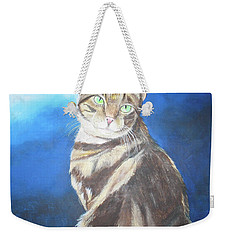 Weekender Tote Bag featuring the painting Cat Profile by Thomas J Herring