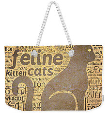 Cat Typography Weekender Tote Bag