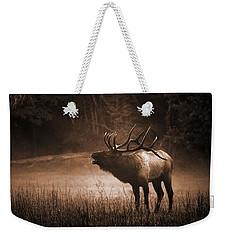 Cataloochee Bull Elk In Sepia Weekender Tote Bag