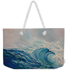 Weekender Tote Bag featuring the painting Wave 111 by Jenny Lee