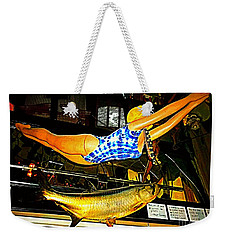 Weekender Tote Bag featuring the photograph Catch Of The Day by Kelly Awad