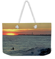 Catching A Wave At Sunset Weekender Tote Bag by Ed Sweeney