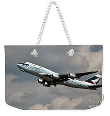 Cathay Pacific B-747-400 Weekender Tote Bag