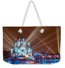 Cathedral Of St Paul Ready For Red Bull Crashed Ice Weekender Tote Bag