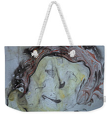 Weekender Tote Bag featuring the painting Catman by Mike Breau